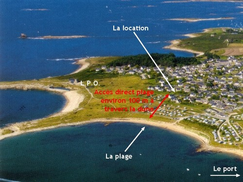 Location maison ile grande bord de mer pleumeur bodou for Acheter une maison en bretagne bord de mer